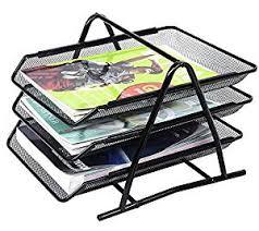 desk office file document paper. Lukzer 3 Tier File Document Letter Paper Tray Sorter Collection Office Desktop Desk A