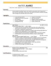 Samples Of Teachers Resumes Sample Templates For Teacher Resume 24 Httptopresume Resume 1