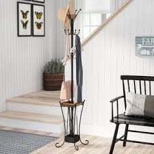 Brass Coat Rack Freestanding Freestanding Coat Racks Umbrella Stands You'll Love Wayfair 99