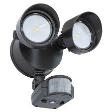 lithonia lighting 180 degree bronze motion activated outdoor integrated led security flood light