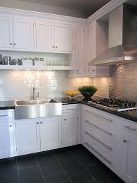 kitchen white cabinet dark grey floor tiles lovely kitchens gray and floors cabinets walls