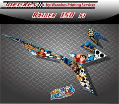 Decals Design For Raider 150 Raider 150 Fi Decals One Piece
