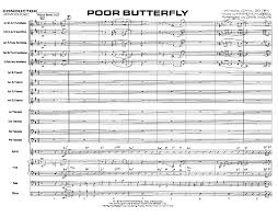 Dave Wolpe Charts Poor Butterfly By Wolpe D J W Pepper Sheet Music