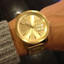 diesel franchise gold dial quartz unisex watch dz1466 watches diesel franchise gold dial quartz unisex watch dz1466 watches amazon com