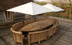 garden dining table with benches. innovative oak garden furniture tribu vis a dining table outdoor at with benches