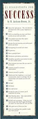 21 suggestions for success suggestions for success