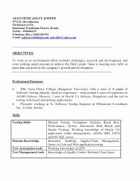 Sample Resume For Software Test Engineer With Experience Best Of