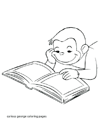 curious george printable coloring pages coloring pages of curious free books library lessons pk 1 for