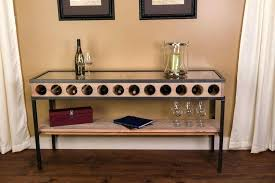 sofa table with wine storage. Buckeye Sofa Table With Wine Storage E