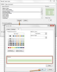 modifying the custom table style