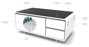 table fridge smart coffee table w fridge speakers led lights and charging ports table top mini table fridge