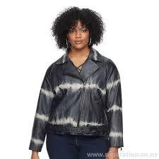 outerwear for women plus size rock republic tie dye faux leather