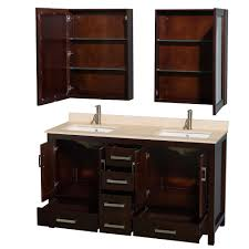 60 bathroom vanity with top. Wyndham Collection WCS141460DESCXSXXMED Sheffield 60\ 60 Bathroom Vanity With Top
