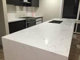 Kitchen Benchtop Prefabricated Carrara Quartz Benchtop Prefabricated Benchtops