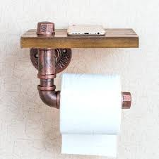 toilet paper holder wood rustic toilet roll holder vintage wooden rustic toilet paper holder with shelf