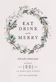 White Christmas Invitations Christmas Party Invitation Templates Free Greetings Island