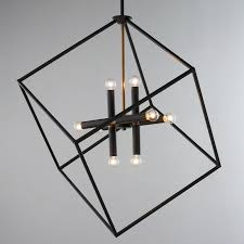 modern lighting shades. Be Squared Modern Chandelier Bronze Lighting Shades L