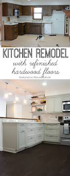 Hardwood Floors Kitchen Remodelaholic Remodeled Kitchen With Refinished Hardwood Floors