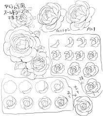 加藤えりこ On2019 植物かんれん スケッチ描き方薔薇イラスト