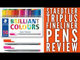 Staedtler Triplus Color Chart Staedtler Triplus Fineliner Pens Review Colour With Claire