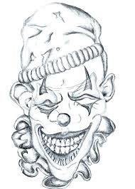 Clown Balloon Tattoo Coloring Pages Print Coloring