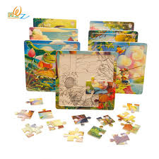 MWZ Baby Wooden Toys for Children 16 Pieces of Cartoon Puzzle 3-4-5-6 Years Old Kids Montessori Educational Toy Puzzles 3 4 5