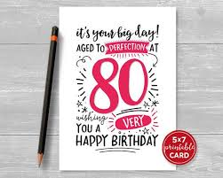 Printable 80th Birthday Card Its Your Big Day Aged To
