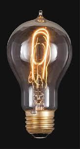 splendid replica of thomas edison era victorian style carbon filament light bulb 4 1 2 tall clear glass edison style standard size base light bulb