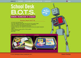 the about page view of school desk bots dot com