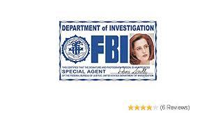 Fake Signs4fun Fbi Presents License Fun Necklace Holiday Id Skully Hw6OHq