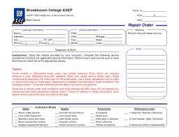 003 Template Ideas Mechanic Work Order For Quickbooksvoices Auto