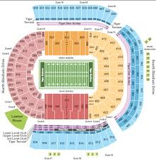 Tiger Stadium Seating Chart Baton Rouge