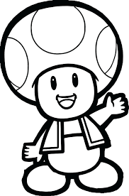 mario mushroom coloring pages super colouring
