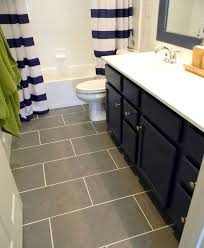 Bathroom Cabinets Next I Like The Curtain Blue Cabinet And Gray Floor Tiles Cool Navy