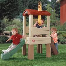 kids outdoor slide playhouse toy climb children garden yard tree house play set