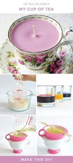 Bridal shower favor idea - DIY tea cup candles {Courtesy of Darby Smart}