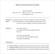 Combination Resume Template – 6+ Free Samples, Examples, Format ...