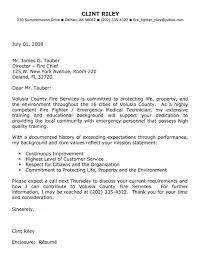 Firefighter Cover Letter Example