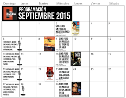 Calendario Septiembre 01 Casa De La Historia