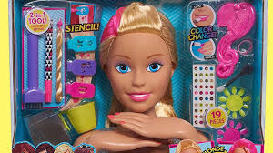 barbie flip and reveal deluxe style head unboxing review barbie hairstyle and color change make up