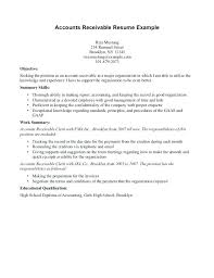 Accounts Receivable Resume Examples Resume Accounts Payable And Receivable Foodcity Me