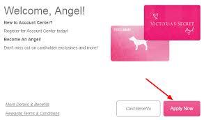 access victoria s secret angel card