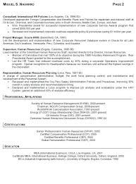 Cv Resume Samples Resume Sample International Human Resources