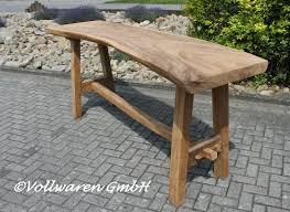 Esstisch Baumkanten Suar L215xb100xh80 Massivholz