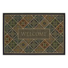 mohawk home tile garden welcome impressions 24 in x 36 in door mat