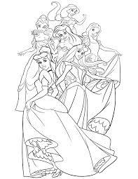 Disney Princess Color Pages Disney Princess Coloring Book Princess