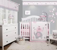 pink and purple crib bedding mint set