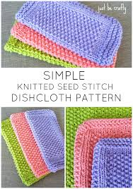 Easy Knit Dishcloth Pattern Mesmerizing Seed Stitch Dishcloth Pattern Free Pattern By Fiber Arts And