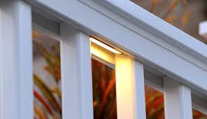 led deck rail lights. TimberTech Deck Under-Rail Lights - View 1 Led Rail A