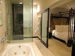 sliding barn doors for bathroom. Master Bathroom With Modern Sliding Barn Door Frosted Privacy Glass Doors For